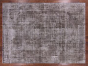 9' 6 X 12' 9 Overdyed Hand Knotted Rug - Q2428