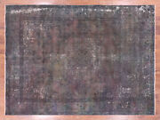 9' 6 X 12' 8 Overdyed Hand-knotted Area Rug - Q2436