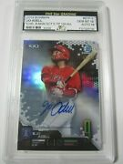 2019 Bowman Chrome Scoutand039s Top 100 Jo Adell Autographed Card 43/50 Gem Mt 10