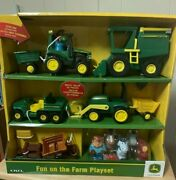 John Deere Fun On The Farm Playset By Tomy. New/sealed 20 Pieces