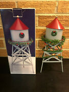 Christmas Valley Collectible Metal Water Tower 10.5 Inches From 1993 In Box