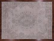 9and039 2 X 12and039 7 Vintage White Wash Hand Knotted Wool Area Rug - Q2564