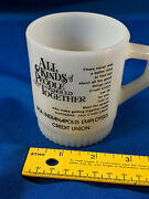 Rca Advertising Nipper Fire King Coffee Mug Cup Vtg Indianapolis 60s-70s Milk