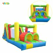 Bouncy Castle With Obstacle Course Inflatable Jumping Bouncer House Kids