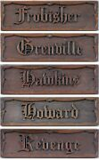 Public School Or Naval College Arts And Crafts Oak House Name Notice Board Signs