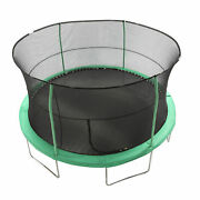 Jumpking Jk1418c2 14 Foot Padded Enclosed Round Trampoline With G3 Poles Green