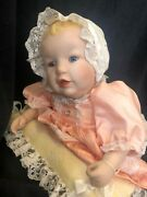 """""""heather"""" Limited Edition Porcelain Doll By Edwin M. Knowles China Company, New"""