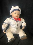 """""""matthew"""" Limited Edition Porcelain Doll By Edwin M. Knowles China Company, New"""