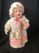 """""""sarah"""" Limited Edition Porcelain Doll By Edwin M. Knowles China Company, New"""