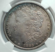 1885 United States Of America Silver Morgan Us Dollar Coin Eagle Ngc Ms I78493