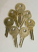 Yale And Yale Junior Key Lot Serial Numbers Cleaned A1169 Rm188 A1208 Sr251 S1089