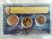 2007 D S And P John Adams One Dollar 1st Day Of Issue