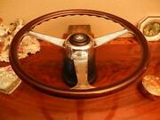 Mercedes 300sl Wood Steering Wheel 1985 - 1989 Dark Nardi German + E.u Dot Spec
