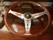 Jaguar Xj12 1990 - 92 Wood Steering Wheel 15.3 Nardi Fit Airbag Model New Nos