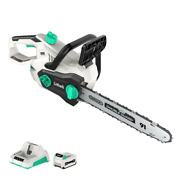 Litheli 40v Cordless Brushless 14 Chainsaw W/ 2.5ah Battery And Charger