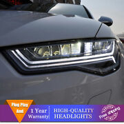 For Audi A6 Headlights All Led Beam Projector Full Led Drl 2012-2018