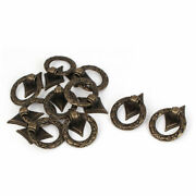 Wooden Box Cabinet Cupboard Drawer Metal Ring Pull Handle Grip Bronze Tone 10pcs