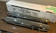 2011 Harley Davidson Electra Glide Exhaust Slip-onand039s Chrome- Used Rc Exhaust