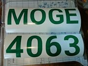 Custom Boat Registration Numbers Letters Decal 3 X 22 Sold As Set Leftandright