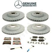 For Mercedes W222 C217 Front And Rear Brake Disc Rotors Pads And Sensors Kit Genuine