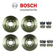 Front And Rear Disc Brake Rotors And Pad Sets Bosch Kit For Audi Porsche Volkswagen