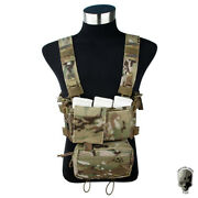 Tmc Modulaire Chest Rig Lutte Micro Chandacircssis W / 5.56 Mag Pouch Militaire Camo