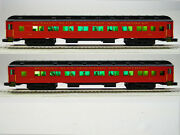 Lionel Rbmn 18and039 Heavyweight Coach 2 Cars O Gauge 301 304 Passenger 6-84193 New