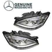 For Mercedes W221 S400 Pair Set Of Left And Right Headlight Assemblies Genuine