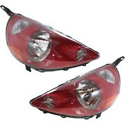 Headlight Set For 2007-2008 Honda Fit Left And Right Clear Lens 2pc