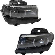 Hid Headlight Left And Right For 2014-15 Chevrolet Camaro Lt Ss With Rs Package