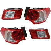 Tail Light For 2009-2010 Acura Tsx Driver And Passenger Side