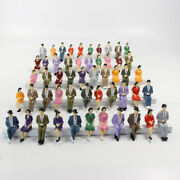 48pcs Model Trains 130 Painted Sitting Figures G Scale Seated People P3002