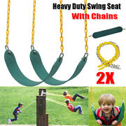 2pcs Outdoor Heavy Duty Swing Seat Set Kids Play Replacement Kit Coated Chains