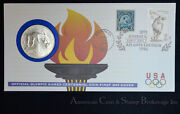 1996 Us Fdc/pnc With Bu Commemorative Special Olympics High Jump Dollar
