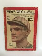 1919-2016 Whoand039s Who In Baseball Collectorand039s Lot Reduced Special Price