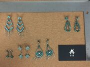 Vintage Zuni Sterling Silver Earrings Lot 1 - Sold Individually On Req.