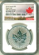 2018 Canada S5 Modified Maple Leaf 30th Anniversary Reverse Proof Ngc Pf69