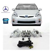 Fits 2010 2011 Toyota Prius Front Lower Bumper Fog Light Lamp Kit W/harness+sw