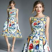 2019 Womens Occident Modern Printed Floral Loose Long Party Dresses Hot Sale