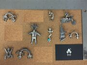 Vintage Native Sterling Silver Kachina Brooch Lot 2 - Sold Individually On Req.