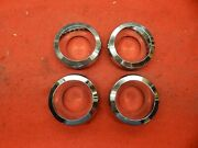 4 Used 67 68 69 Ford Mustang Wheelcover Chrome Spinner Centers C7ma-1141-a