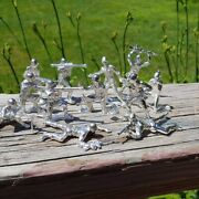🇺🇸hand Poured 999 Silver Toy Soldier 12 Beautiful Casted Casted Soldiers🇺🇸