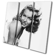 Marylin Monroe Star Iconic Celebrities Treble Canvas Wall Art Picture Print