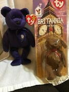 Original 1997 Retired Ty Beanie Baby Princess The Bear / Very Collectible