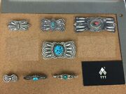 Vintage Southwestern Sterling Silver Brooch Lot 1 - Individually On Req.