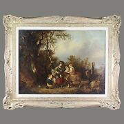 British William Shayer Snr 1787-1879 Antique Oil On Board Panting