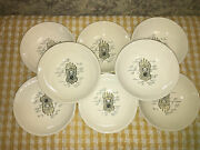 8 Old Fashion Clock Country Farmhouse Oven Proof Eagle Fruit Bowls Dessert Dish