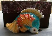 Jay Strongwater Fish Ornament Elements New In Box