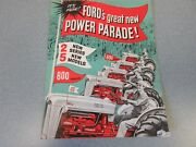 Ford 600 And 800 Series Tractor Brochure 1954   Lw