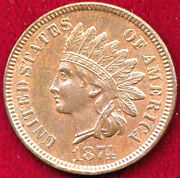 1874 1c Brown Color - Indian Cent++